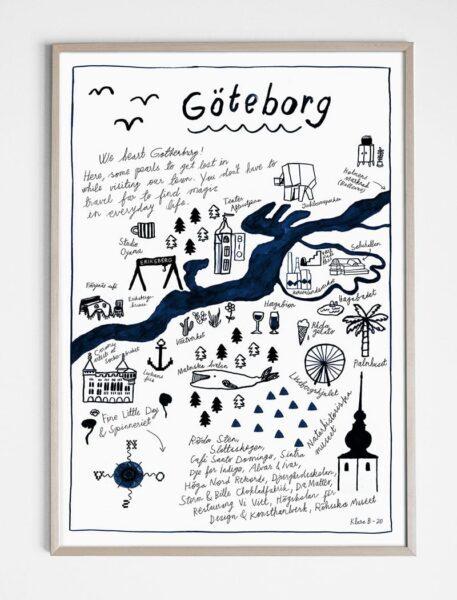 poster göteborg 50 x 70 cm zonder lijst fine little day tykky unieke posters