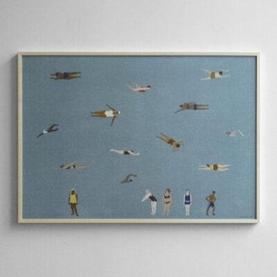 fine little day poster swimmer 70x100 cm tykky poster design